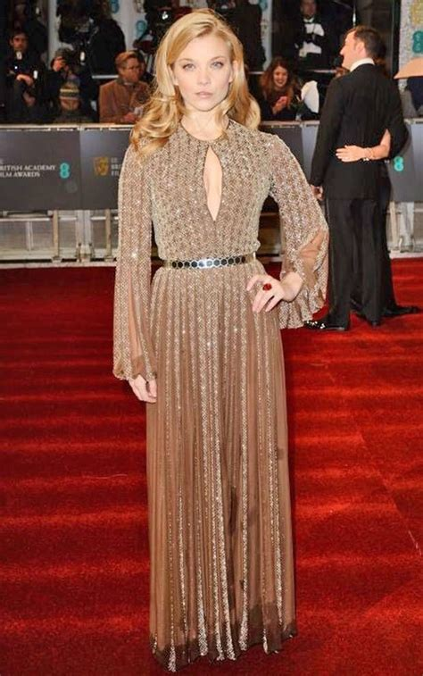 natalie dormer dress natalie dormer wears a pleated chiffon gown in graphic