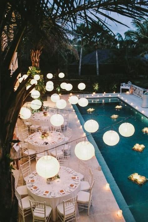 Pool Wedding Decoration Ideas by 33 Cool Poolside Wedding Ideas Happywedd