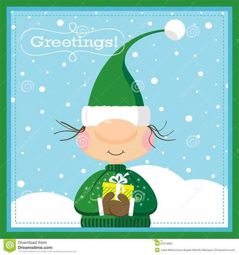 Elf Gift Card - xmas elf gift card stock photo image 21513850