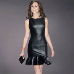 online get cheap faux leather dress aliexpress com alibaba group
