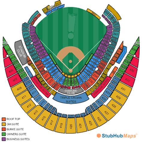 kauffman stadium map kauffman stadium