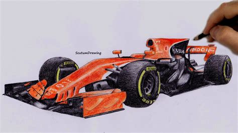 mclaren f1 drawing mclaren honda mcl32 speed drawing how to draw f1 car