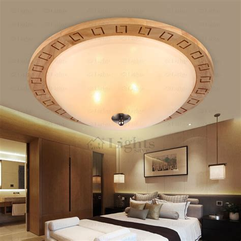Light Fixtures Bedroom Ceiling Modern E26 E27 Wood Ceiling Light Fixtures For Bedroom