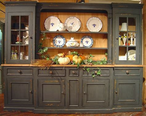 Large 6 Section Sideboard & Hutch w 5 Drawers & 3 Cabinets   dining room   Pinterest   Side door