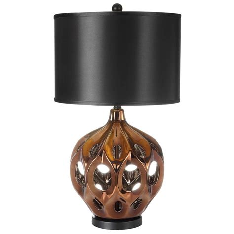 brown l shade with gold safavieh regina 29 in gold brown ceramic paris l with