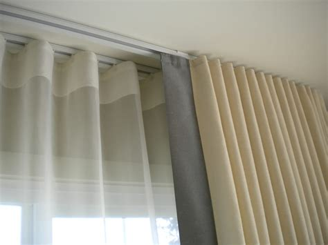 curtains for track rods ripllefold double drapery tracks yelp