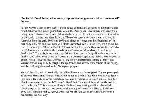 Rabbit Proof Fence Essay Techniques by Rabbit Proof Fence Essay Exles Essay For You