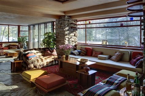 fallingwater interior falling water frank lloyd wright a little daily happiness