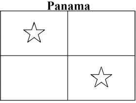panama flag coloring page coloring home