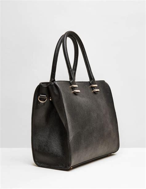 sac cabas simili cuir noir femme jennyfer