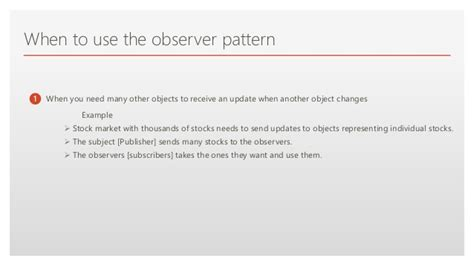 observer pattern stock market observer software design pattern