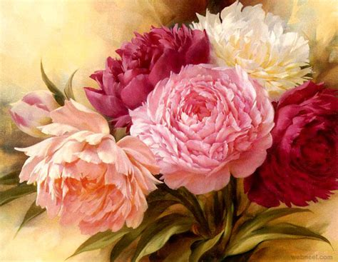 paintings of flowers 40 beautiful and realistic flower paintings for your