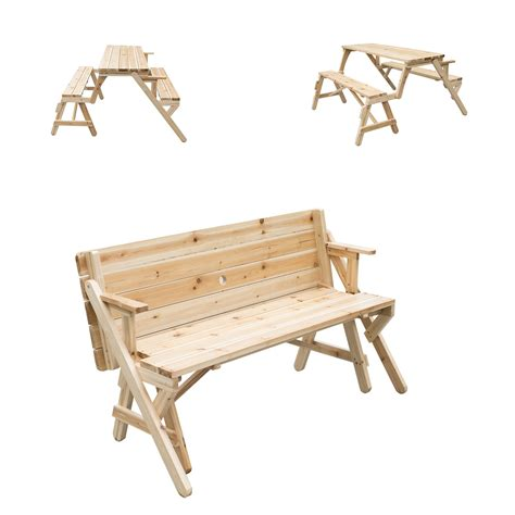2 in 1 picnic table bench outsunny 2 in 1 convertible picnic table garden bench