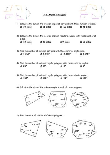 GCSE Higher Revision - 7.2. Angles in Polygons. | Teaching