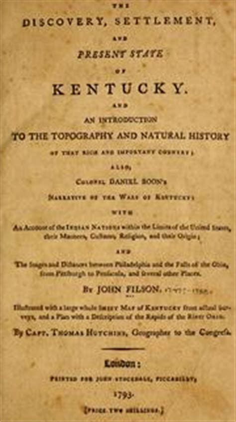 the discovery settlement and present state of kentucke and an essay towards the topography and history of that important country classic reprint books the discovery settlement and present state of kentucky