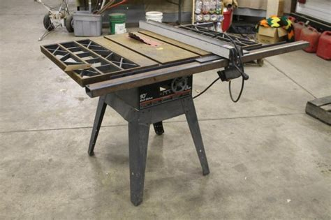 Belt Drive Table Saw lot 1044ss craftsman 10 quot belt drive table saw 3hp