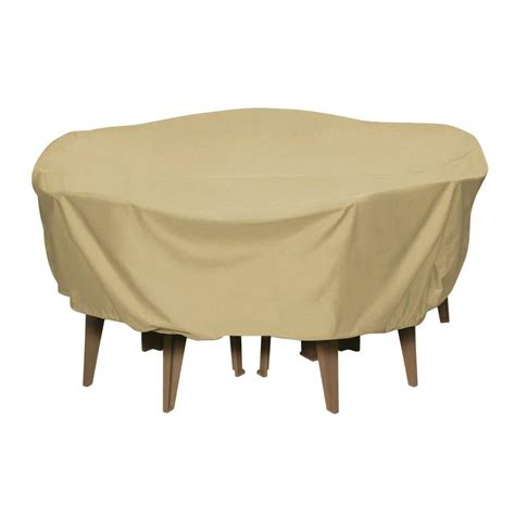 Cover For Patio Table Two Dogs Designs 84 In Khaki Patio Table Set Cover 2d Pf84005 The Home Depot