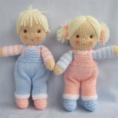 pattern knitting doll jack and jill knitted dolls knitting pattern by