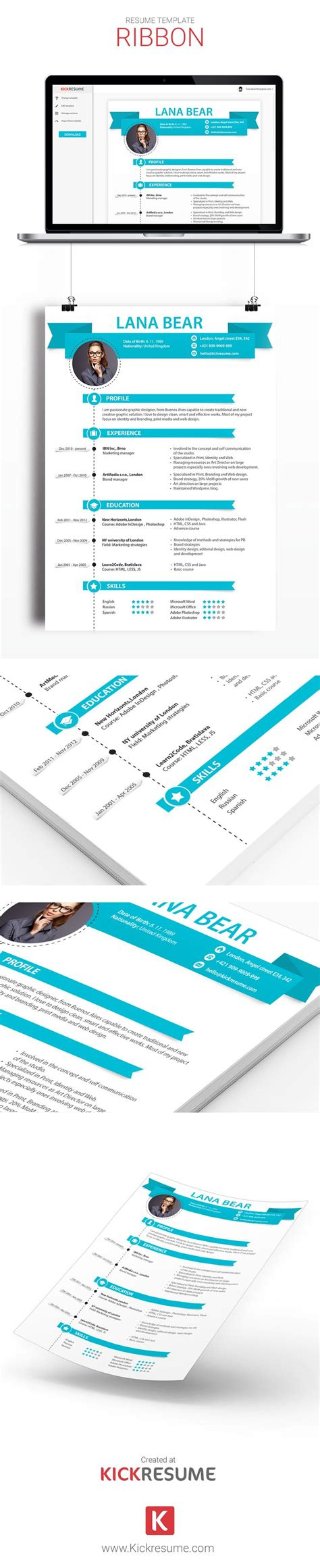 creative resume builder 18 best kickresume templates gallery resume sles