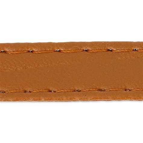 Imitation In 1 imitation leather gallon with stitches 10mm camel x 1m
