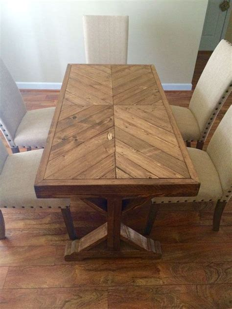 25 best ideas about chevron table on wood table tops reclaimed wood table top and
