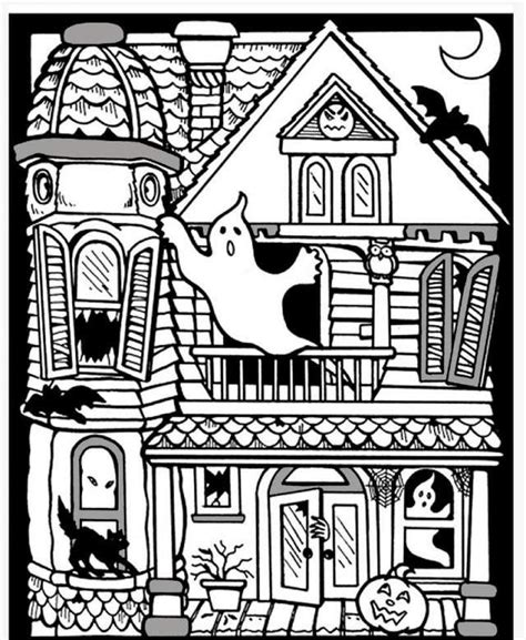 scary haunted house coloring pages scary haunted house coloring pages download and print for free