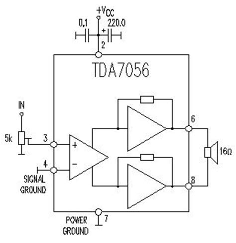 integrated audio lifier circuit tda7056 integrated audio lifier circuit