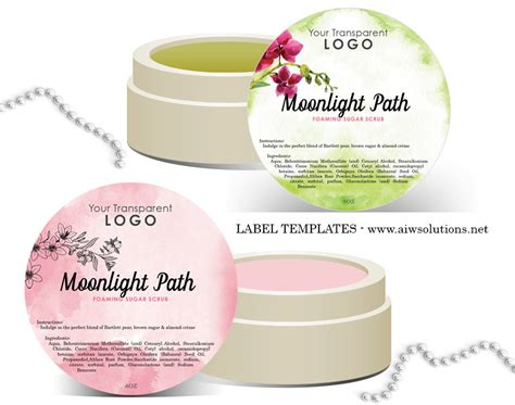 Round Label Design Templates