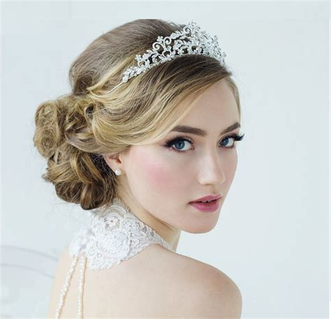 wedding hairstyles with a tiara wedding tiara hairstyle www pixshark images