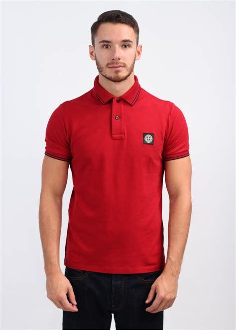 Polo Shirt Cokelat 1 island sleeve trim polo shirt