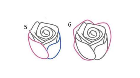 menggambar bunga mawar  mudah cocok  anak