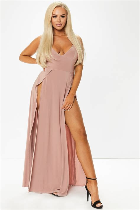 Bridesmaid Dresses With Slits Up The Leg - front leg slit maxi dress