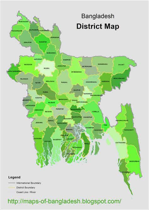 map of bangladesh bangladesh all zila map