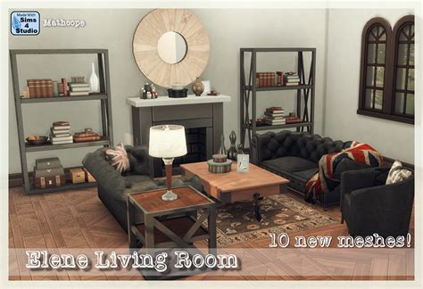 sims 4 wohnzimmer my sims 4 elene living room set by mathcope