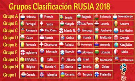 tabla mundial 2018 mundial 2018 clasificados calendario grupos y mucho m 225 s