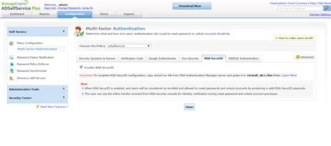 resetting id rsa user identity verification during password reset account