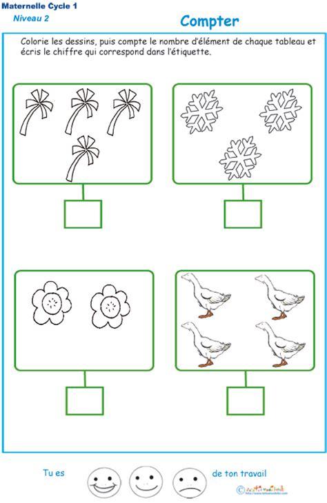 section math imprimer l exercice 3 pour compter maternelle niveau 2