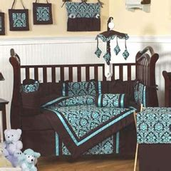 Turquoise And Brown Crib Bedding by Baby Registry Search At Beyond Bedding