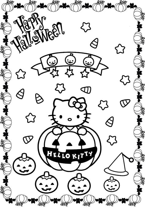 coloring pages of hello kitty halloween hello kitty halloween coloring page az coloring pages