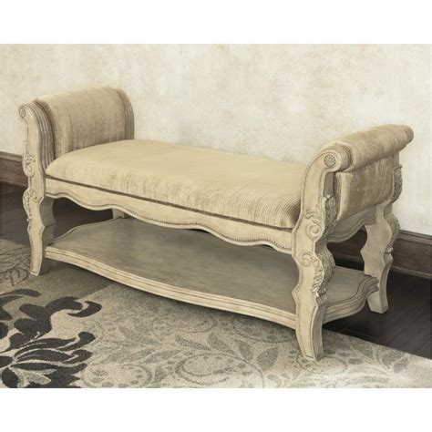 ortanique upholstered bench b707 09 ashley furniture ortanique bedroom upholstered bench