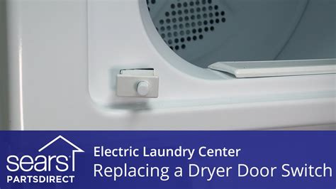 how to replace an electric laundry center dryer door