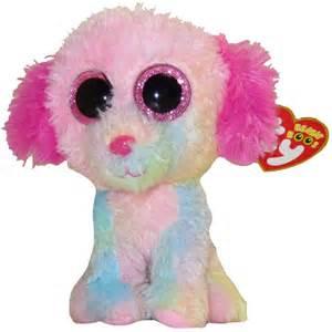 ty beanie boos lovesy pastel rainbow dog glitter eyes regular size 6 limited