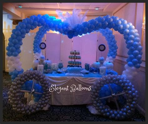 sweet 16 pink decorations sweet 16 decorations ideas on www elegant balloons com sweet 16 cinderella carriage