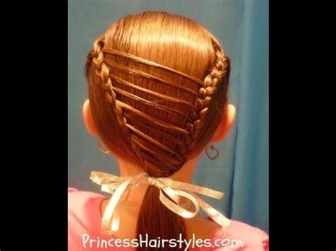 stripe overlay braid unique hairstyles  girls youtube