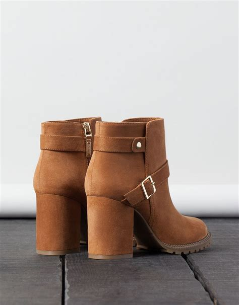 Buckled Heel Ankle Boots bsk buckled heel ankle boots shoes bershka taiwan