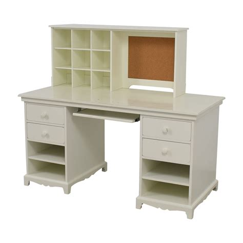 furniture white desk 55 pottery barn pottery barn white desk with cubby