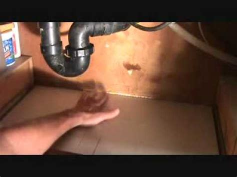 How To Fix A Leak Under A Kitchen Sink Part 2 Youtube Fixing Leak Kitchen Sink
