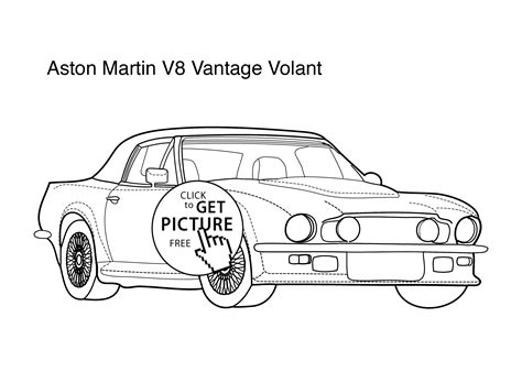coloring pictures of supercars super car aston martin v8 vantage coloring page for kids 5