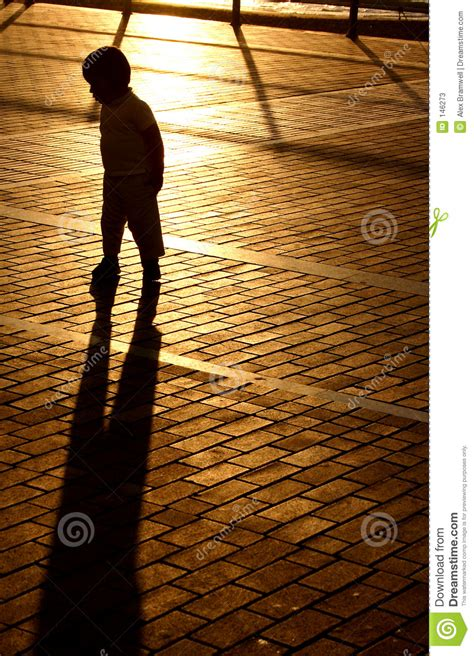 Shadow Boys sunset shadow boy stock photos image 146273