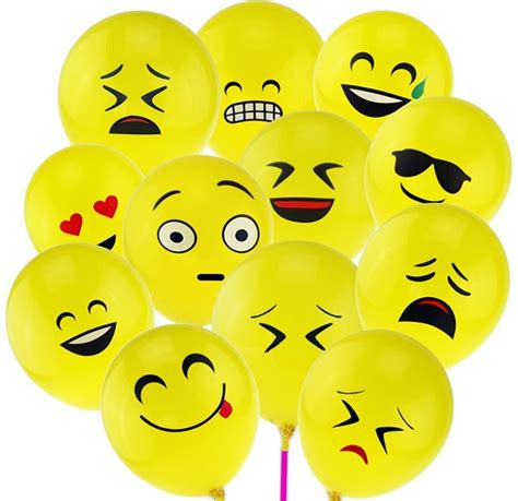 Balon Tiup Emoticon 100 Pcs aliexpress acheter 100 pcs emoji ballons smiley expression du visage jaune ballons de